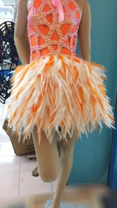 M012C Star Feather Belt Showgirl  Skirt