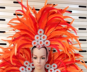 H15013 Circle Round Princess Crystal  Showgirl Headdress
