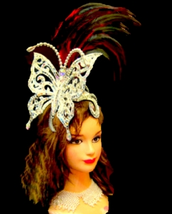 H0052S Princess Feather Butterfly Feather Showgirl Headdress