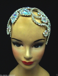 HQC6 Showgirl Ballet little Princess Crystal Headdress Crown Tiara