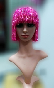 M535S Cher Bugle Beaded Hat Wig