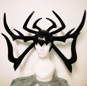 DaNeeNa H203 Maleficent Demons Leather Cabaret Showgirl pageant Headdress