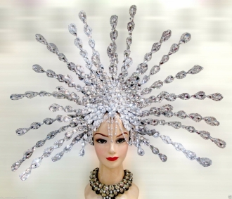 H543 Star Cosmos Crystal Showgirl Dance pageant Headdress