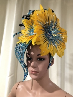 H146 The Big Flower Showgirl Headdress