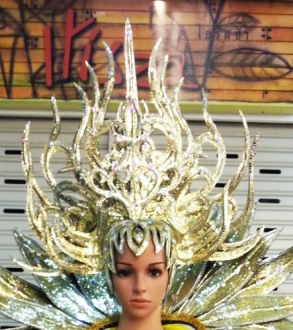C726H Forest Warrior Showgirl Headdress
