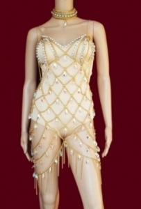 L014 Burlesque Crystal Leotard