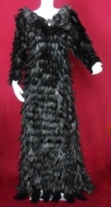 G001 Feather Showgirl Gown