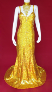 G333 Ballroom Sequin Showgirl Gown