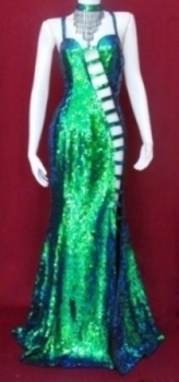 G001 Sexy Showgirl Gown S-L