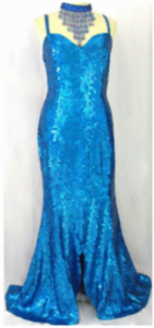 G333B Ballroom Sequin Showgirl Gown