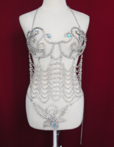Queen Showgirl Bra Chainmail Costume
