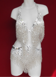S9 Dancing with the stars Fringe Salsa Showgirl Leotard