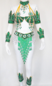 L004 Warrior Two piece GREEN Costume size S-M