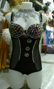 L012 Lady Gaga Bra leotard Costume Set