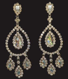 J019 Crystal Swarovski SILVER Earrings