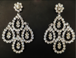 J018 Crystal Swarovski SILVER Earrings