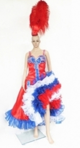 Can Can M052 Authentic Paris Dancer Dress Costume Set