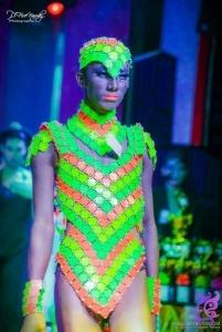 da neena m038c cabaret robe de danse chainmaille chainmail costume set