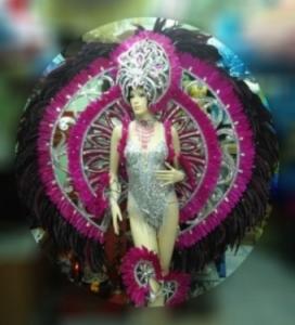 EVITA B041 Rainbow Drag Burlesque Vegas Feather Backpack