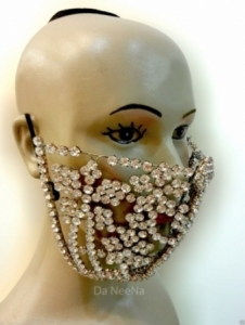 HQC15002 Little Flower Crystal Mouth Mask