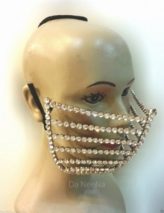 HQC15004 Windy Princes Crystal Mouth Mask
