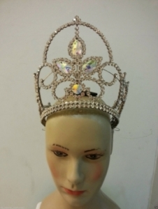 HQC15006 King of The Sunshine Flower Crystal  Crown
