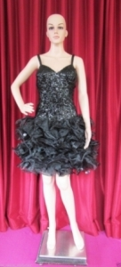 M11 Black Powerful Lady Style Showgirl Dress   1X