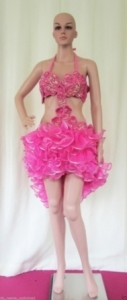 M19 Pink Seashell Showgirl Dress M