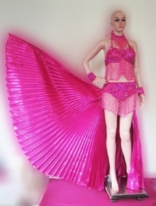 C22 Latin Isis Angel Wings Belly Showgirl Dress Fan Skirt Costume S-M