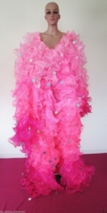 C34 Gigantic Jumbo Sequin Ruffle Showgirl Coat Jacket