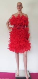 M37 Red Nymphs Puberty Showgirl Dress