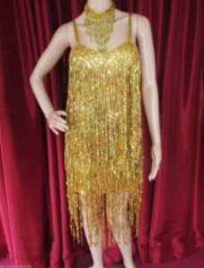 R7 Modern Sexy Lady Sequin Showgirl Dress M