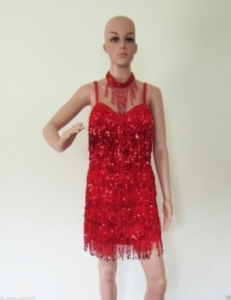 R7 Little Sexy Girl Sequin Showgirl Dress M