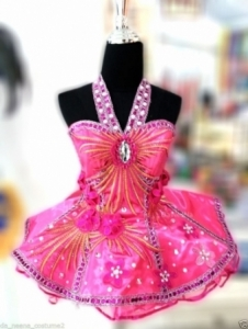 M6474 Cute Colorful Lady Showgirl Dress