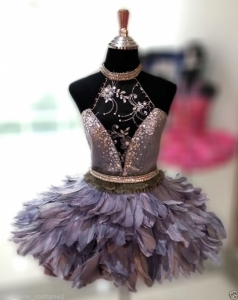 M6475 Cute Colorful Lady Showgirl Dress