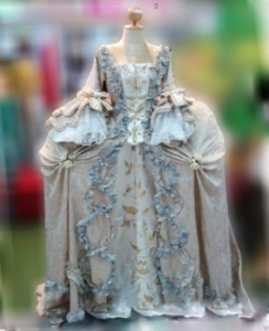 G040G Northern Europeans Lady Cabaret Renaissance Showgirl Dress Gown