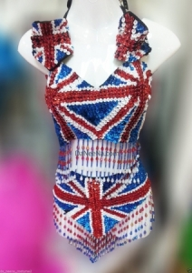 M135 England Lady Showgirl Vegas Stage Dance Showgirl Dress