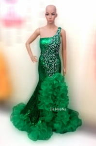 G517Miss Universe Crystal Showgirl Gown Showgirl Dress