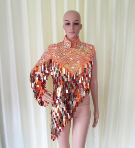 R29 Orange Sexy Elegant Showgirl Dress M