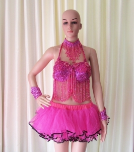 R34 Flower Pretty Lady Showgirl Dress M