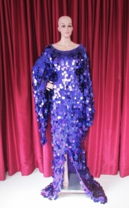 R41 Fabulous purple Showgirl Gown 3X