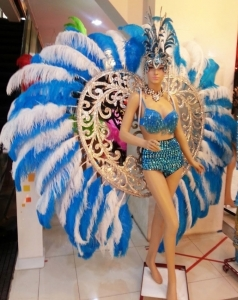 C664A Angel of Heart Crystal Angel Wings Showgirl Headdress Costume Set