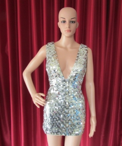 R43 Metallic Showgirl Dress L