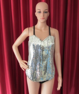 R48 Robot Queen Showgirl Leotard Showgirl Bodysuit L