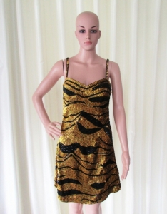 R50 Tiger Sexy Showgirl Dress L