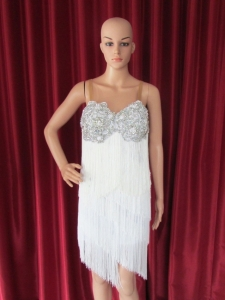 R52 White Angel Showgirl Dress L