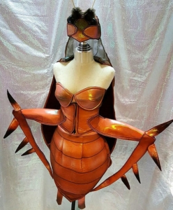 Cockroach Roach Bug Insect Grasshopper Cricket Showgirl Headdress Costume Set