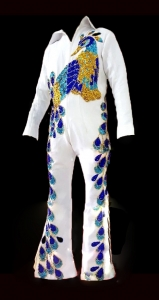 Elvis Presley Inspired American Singer Musician Actor The King Peacock Jumpsuit Suit Jacket Cape