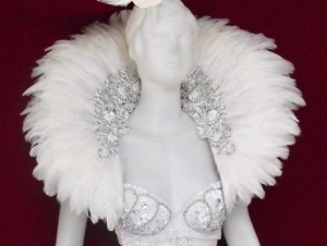 C0052 White Swan Showgirl Backpack Shoulder Piece