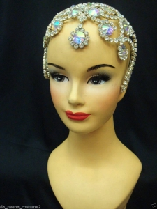 HQC7 Showgirl Ballet little Princess Crystal Headdress Crown Tiara